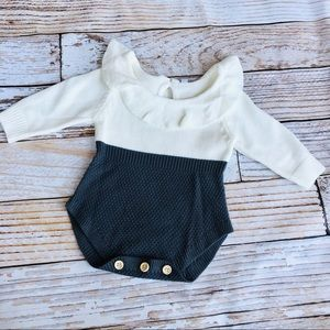 Other - Boutique Long Sleeve Knit Romper - Size 6-9M
